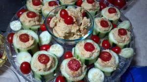 Hummus Stuffed Cukes