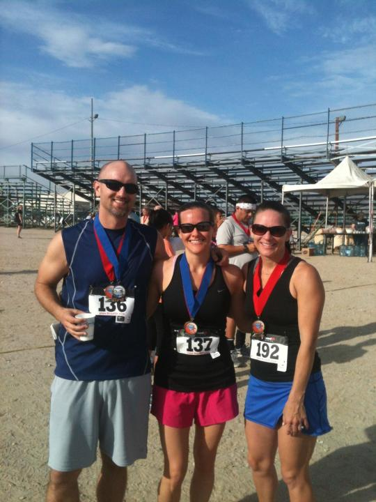 Dan (a.k.a Mr. ZucchiniRunner), me and our friend Amy. We all placed! Woo hoo!