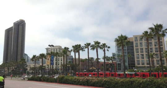 The expo was right in the heart of downtown San Diego; June gloom was in full force for most of this trip.